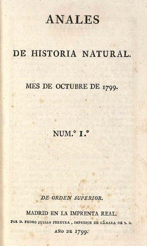 Societat valenciana de mineralogia anales de historia for Anales del jardin botanico de madrid